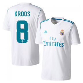 adidas  Real Madrid  Toni Kroos #8 Soccer Jersey (Home 17/18)
