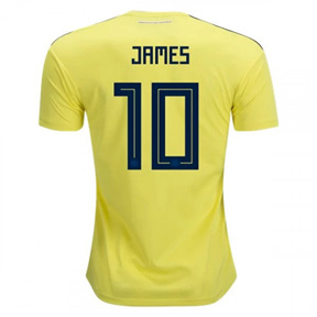 adidas   Colombia James #10 World Cup 2018 Soccer Jersey (Home)