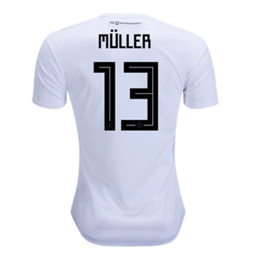 adidas  2018 World Cup  Germany Muller #13 Soccer Jersey (Home)