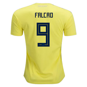 adidas  Colombia Falcao #9 World Cup 2018 Soccer Jersey (Home)