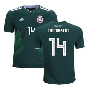 adidas   Mexico Chicharito #14 World Cup 218 Soccer Jersey (Home)