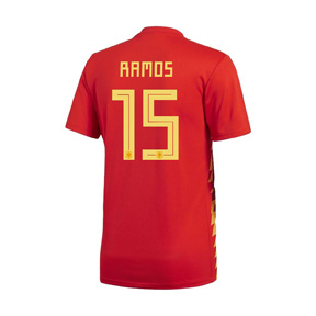 adidas Youth  Spain Sergio Ramos #15 World Cup 2018 Jersey (Home)