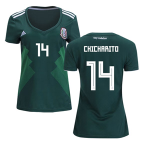 adidas 2018 World Cup Womens Mexico Chicharito #14 Jersey