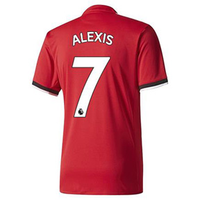 adidas Manchester United Alexis #7 Soccer Jersey (Home 17/18)