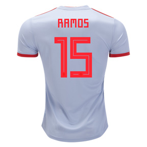 adidas  Spain Ramos #15 World Cup 2018 Soccer Jersey (Away)