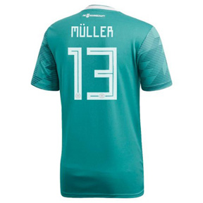 adidas  Germany Muller #13 World Cup 2018 Soccer Jersey (Away)