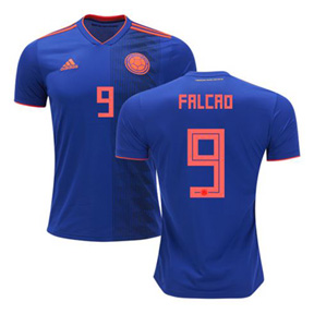 adidas  Colombia Falcao #9 World Cup 2018 Soccer Jersey (Away)