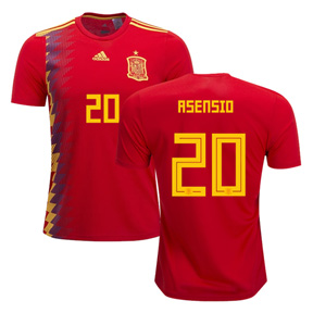 adidas Youth Spain Asensio #20 Jersey (Home 18/19)