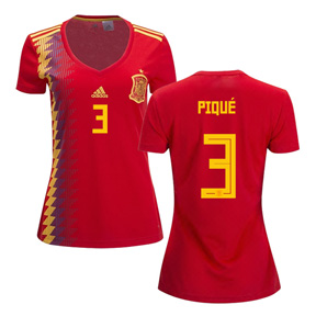 adidas Womens  Spain Pique #3 World Cup 2018 Jersey (Home)