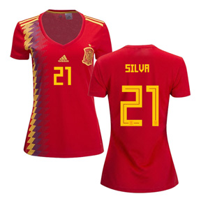 adidas Womens  Spain Silva #21 World Cup 2018 Jersey (Home)