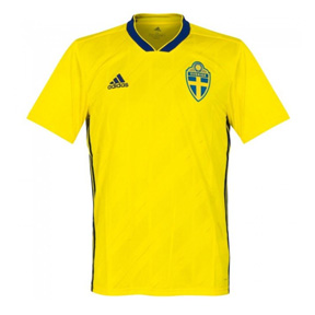 adidas Sweden World Cup 2018 Soccer Jersey (Home)