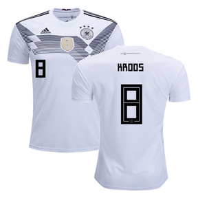 adidas Youth  Germany Kroos #8 World Cup 2018 Jersey (Home)