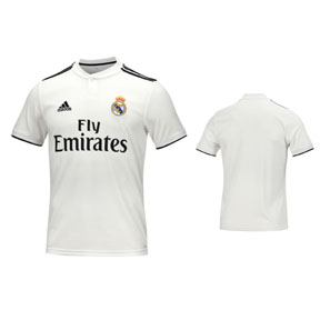 adidas Youth  Real Madrid Soccer Jersey (Home 18/19)