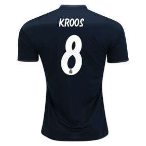 adidas Youth  Real Madrid Kroos #8 Soccer Jersey (Away 18/19)