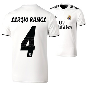 adidas Youth  Real Madrid Sergio Ramos #4 Jersey (Home 18/19)