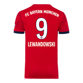 adidas Youth  Bayern Munich Lewandowski #9 Jersey (Home 18/19)
