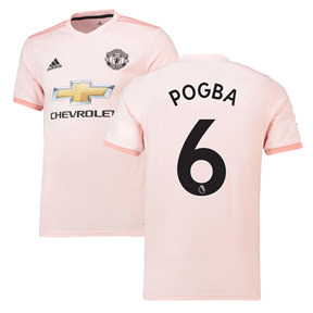 adidas  Manchester United Pogba #6 Soccer Jersey (Away 18/19)
