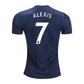 adidas Youth Manchester United Alexis #7 Jersey (Alternate 18/19)