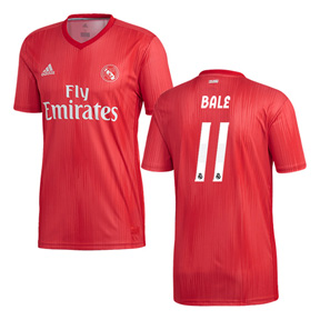 adidas Youth Real Madrid Bale #11 Soccer Jersey (Alternate 18/19)