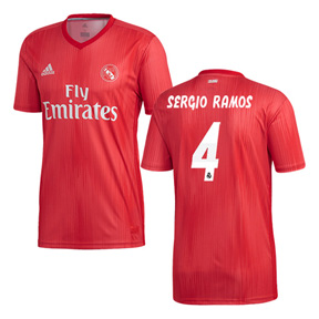 adidas Youth  Real Madrid Ramos #4 Soccer Jersey (Alternate 18/19)