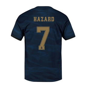 adidas Youth  Real Madrid  Hazard #7 Soccer Jersey (Away 19/20)