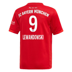 adidas Youth  Bayern Munich  Lewandowski #9 Jersey (Home 19/20)