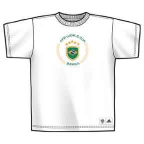 World Cup 2006 adidas Brazil Circle Soccer Tee (White)
