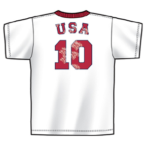 World Cup 2006 USA #10 Soccer Tee (White/Red)