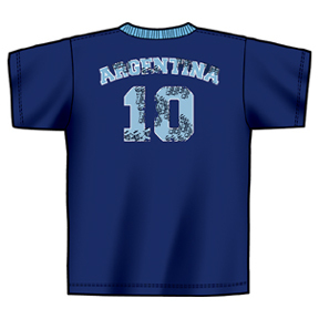 World Cup 2006 Argentina #10 Soccer Tee (Navy Blue)