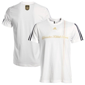 adidas Germany World Cup 2010 Soccer Tee (White/Black)