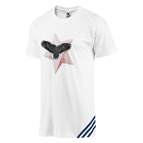 USA adidas World Cup Soccer Tee (White/Blue)