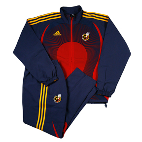 adidas Spain Soccer Presentation Suit (Blue/Red/Gold)