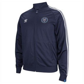 adidas New York City FC Soccer Track Top (Navy/White)