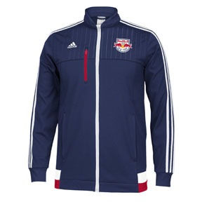 adidas NY Red Bulls Anthem Soccer Track Top (Dark Blue)