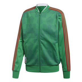 adidas   Mexico World Cup 2018 Soccer Track Top (Green/Scarlet)