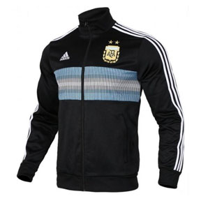 adidas  Argentina World Cup 2018 3-Stripes Soccer Track Top (Black)