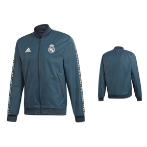 adidas  Real Madrid Anthem Soccer Training Jacket (Tech Onix)
