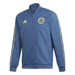 adidas  Colombia  Anthem Soccer Jacket (Marine/Yellow - 19/20)