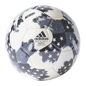 adidas MLS  Nativo Competition Soccer Ball (White/Silver - 2017)