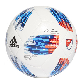 adidas MLS Nativo Top Glider Soccer Ball (White/Red/Blue - 2018)