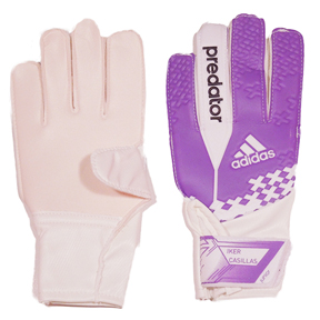 adidas Youth Predator Iker Casillas Soccer Goalie Glove (Purple)