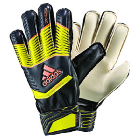 adidas Youth Predator Fingersave Soccer Goalie Glove (Yellow/Grey)