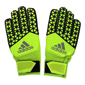adidas Youth ACE Soccer Goalie Glove (Solar Yellow)