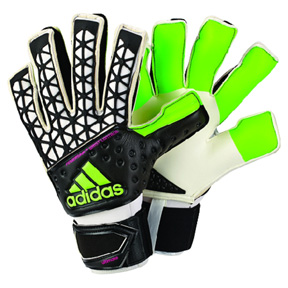 adidas ACE Zones Fingersave Ultimate Goalie Glove (Green/Black)
