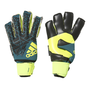 adidas ACE Ultimate Fingersave Soccer Goalie Glove (Navy/Volt)