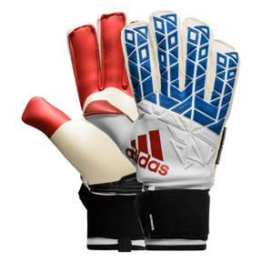 adidas ACE  Ultimate Fingersave Soccer Goalie Glove (White/Red)