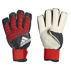 adidas  Predator   Pro Fingersave Soccer Goalie Glove (Black/Red/White)