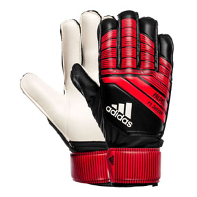 adidas Youth  Predator Fingersave Soccer Goalie Glove (Black/Red)