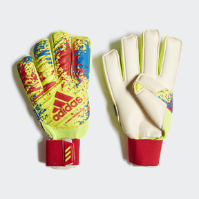 adidas Classic Pro Fingersave Soccer Goalie Glove (Yellow/Red)