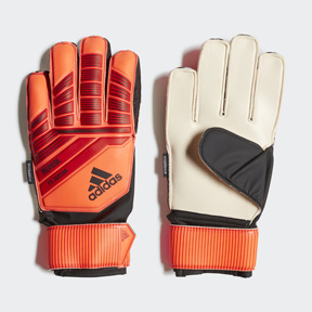 adidas Youth  Predator Fingersave Soccer Goalie Glove (Solar Red)